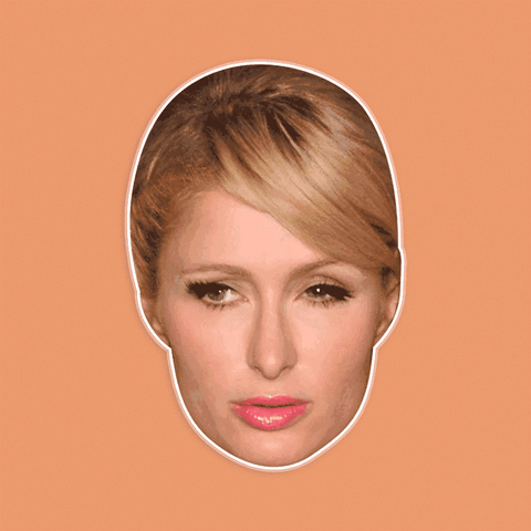 Bored Paris Hilton Mask - Perfect for Halloween, Costume Party Mask, Masquerades, Parties, Festivals, Concerts - Jumbo Size Waterproof Laminated Mask