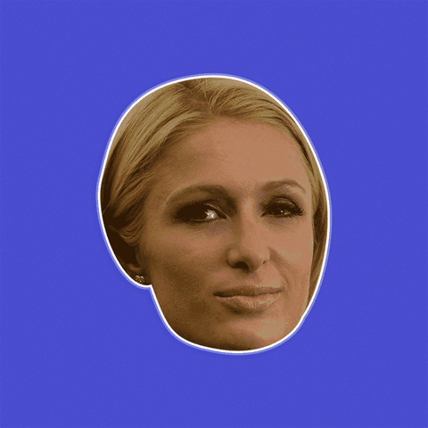 Neutral Paris Hilton Mask - Perfect for Halloween, Costume Party Mask, Masquerades, Parties, Festivals, Concerts - Jumbo Size Waterproof Laminated Mask