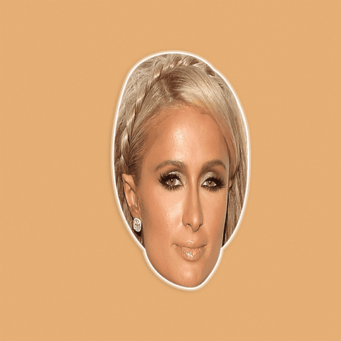 Serious Paris Hilton Mask - Perfect for Halloween, Costume Party Mask, Masquerades, Parties, Festivals, Concerts - Jumbo Size Waterproof Laminated Mask
