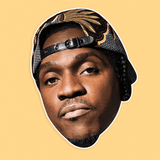 Bored Pusha T Mask - Perfect for Halloween, Costume Party Mask, Masquerades, Parties, Festivals, Concerts - Jumbo Size Waterproof Laminated Mask