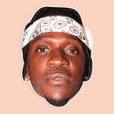 Confused Pusha T Mask - Perfect for Halloween, Costume Party Mask, Masquerades, Parties, Festivals, Concerts - Jumbo Size Waterproof Laminated Mask
