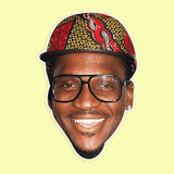 Excited Pusha T Mask - Perfect for Halloween, Costume Party Mask, Masquerades, Parties, Festivals, Concerts - Jumbo Size Waterproof Laminated Mask