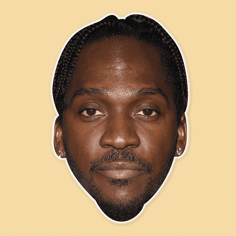 Serious Pusha T Mask - Perfect for Halloween, Costume Party Mask, Masquerades, Parties, Festivals, Concerts - Jumbo Size Waterproof Laminated Mask