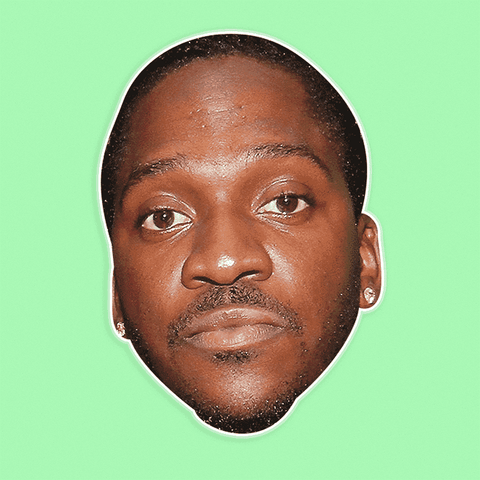 Surprised Pusha T Mask - Perfect for Halloween, Costume Party Mask, Masquerades, Parties, Festivals, Concerts - Jumbo Size Waterproof Laminated Mask