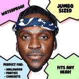 Cool Pusha T Mask - Perfect for Halloween, Costume Party Mask, Masquerades, Parties, Festivals, Concerts - Jumbo Size Waterproof Laminated Mask