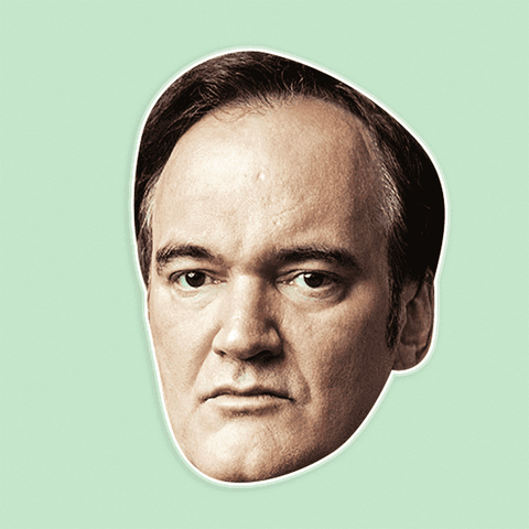 Bored Quentin Tarantino Mask - Perfect for Halloween, Costume Party Mask, Masquerades, Parties, Festivals, Concerts - Jumbo Size Waterproof Laminated Mask
