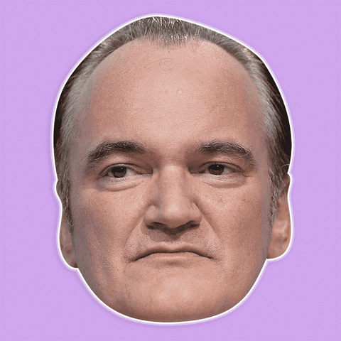 Sad Quentin Tarantino Mask - Perfect for Halloween, Costume Party Mask, Masquerades, Parties, Festivals, Concerts - Jumbo Size Waterproof Laminated Mask