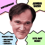 Disgusted Quentin Tarantino Mask - Perfect for Halloween, Costume Party Mask, Masquerades, Parties, Festivals, Concerts - Jumbo Size Waterproof Laminated Mask