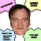 Neutral Quentin Tarantino Mask - Perfect for Halloween, Costume Party Mask, Masquerades, Parties, Festivals, Concerts - Jumbo Size Waterproof Laminated Mask