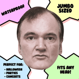 Surprised Quentin Tarantino Mask - Perfect for Halloween, Costume Party Mask, Masquerades, Parties, Festivals, Concerts - Jumbo Size Waterproof Laminated Mask