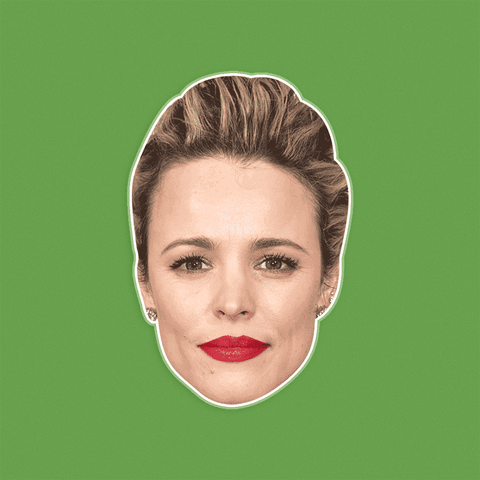 Neutral Rachel McAdams Mask - Perfect for Halloween, Costume Party Mask, Masquerades, Parties, Festivals, Concerts - Jumbo Size Waterproof Laminated Mask 1