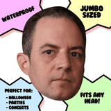 Bored Reince Priebus Mask - Perfect for Halloween, Costume Party Mask, Masquerades, Parties, Festivals, Concerts - Jumbo Size Waterproof Laminated Mask