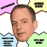 Excited Reince Priebus Mask - Perfect for Halloween, Costume Party Mask, Masquerades, Parties, Festivals, Concerts - Jumbo Size Waterproof Laminated Mask
