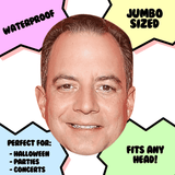 Happy Reince Priebus Mask - Perfect for Halloween, Costume Party Mask, Masquerades, Parties, Festivals, Concerts - Jumbo Size Waterproof Laminated Mask