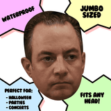 Sad Reince Priebus Mask - Perfect for Halloween, Costume Party Mask, Masquerades, Parties, Festivals, Concerts - Jumbo Size Waterproof Laminated Mask