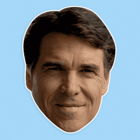 Cool Rick Perry Mask - Perfect for Halloween, Costume Party Mask, Masquerades, Parties, Festivals, Concerts - Jumbo Size Waterproof Laminated Mask