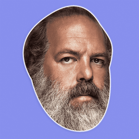 Angry Rick Rubin Mask - Perfect for Halloween, Costume Party Mask, Masquerades, Parties, Festivals, Concerts - Jumbo Size Waterproof Laminated Mask