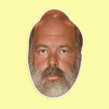 Sad Rick Rubin Mask - Perfect for Halloween, Costume Party Mask, Masquerades, Parties, Festivals, Concerts - Jumbo Size Waterproof Laminated Mask