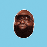 Bitter Rick Ross Mask - Perfect for Halloween, Costume Party Mask, Masquerades, Parties, Festivals, Concerts - Jumbo Size Waterproof Laminated Mask