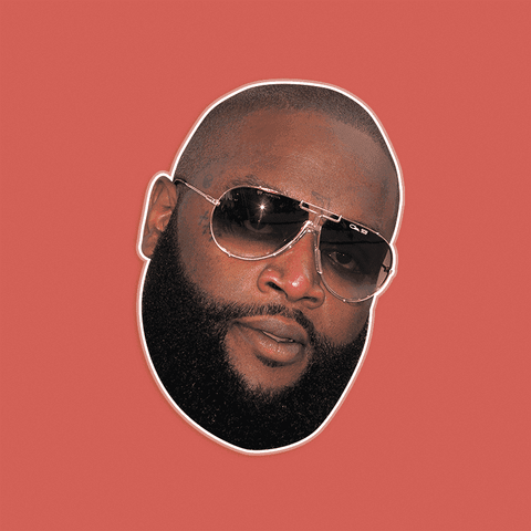 Serious Rick Ross Mask - Perfect for Halloween, Costume Party Mask, Masquerades, Parties, Festivals, Concerts - Jumbo Size Waterproof Laminated Mask