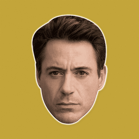 Angry Robert Downey Jr. Mask by RapMasks