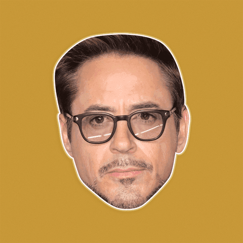Sad Robert Downey Jr. Mask - Perfect for Halloween, Costume Party Mask, Masquerades, Parties, Festivals, Concerts - Jumbo Size Waterproof Laminated Mask
