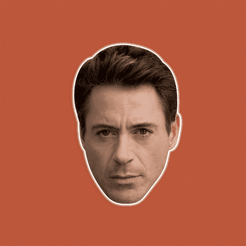 Serious Robert Downey Jr. Mask - Perfect for Halloween, Costume Party Mask, Masquerades, Parties, Festivals, Concerts - Jumbo Size Waterproof Laminated Mask
