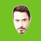 Sexy Robert Downey Jr. Mask - Perfect for Halloween, Costume Party Mask, Masquerades, Parties, Festivals, Concerts - Jumbo Size Waterproof Laminated Mask