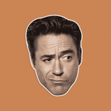 Silly Robert Downey Jr. Mask - Perfect for Halloween, Costume Party Mask, Masquerades, Parties, Festivals, Concerts - Jumbo Size Waterproof Laminated Mask