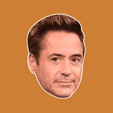 Bored Robert Downey Jr. Mask - Perfect for Halloween, Costume Party Mask, Masquerades, Parties, Festivals, Concerts - Jumbo Size Waterproof Laminated Mask