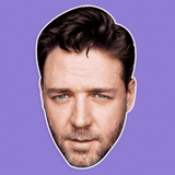 Sexy Russell Crowe Mask - Perfect for Halloween, Costume Party Mask, Masquerades, Parties, Festivals, Concerts - Jumbo Size Waterproof Laminated Mask