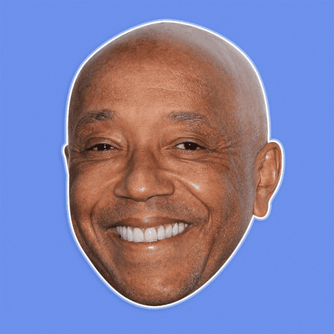 Serious Russell Simmons Mask - Perfect for Halloween, Costume Party Mask, Masquerades, Parties, Festivals, Concerts - Jumbo Size Waterproof Laminated Mask