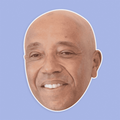 Sexy Russell Simmons Mask - Perfect for Halloween, Costume Party Mask, Masquerades, Parties, Festivals, Concerts - Jumbo Size Waterproof Laminated Mask