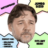 Silly Russell Crowe Mask - Perfect for Halloween, Costume Party Mask, Masquerades, Parties, Festivals, Concerts - Jumbo Size Waterproof Laminated Mask