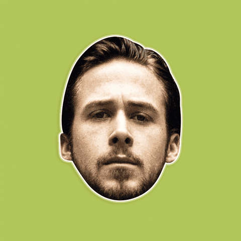 Angry Ryan Gosling Mask - Perfect for Halloween, Costume Party Mask, Masquerades, Parties, Festivals, Concerts - Jumbo Size Waterproof Laminated Mask