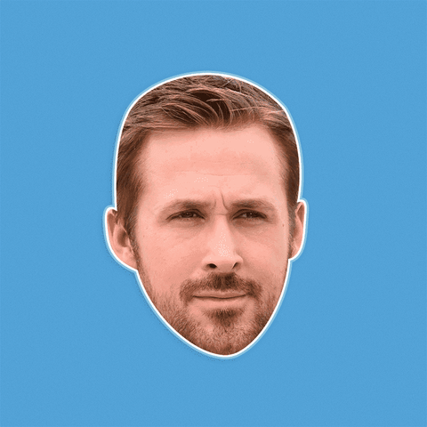 Cool Ryan Gosling Mask - Perfect for Halloween, Costume Party Mask, Masquerades, Parties, Festivals, Concerts - Jumbo Size Waterproof Laminated Mask