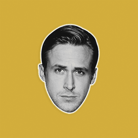 Neutral Ryan Gosling Mask - Perfect for Halloween, Costume Party Mask, Masquerades, Parties, Festivals, Concerts - Jumbo Size Waterproof Laminated Mask