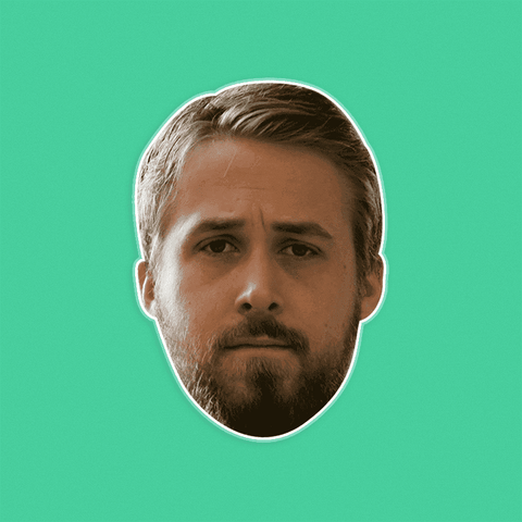 Sad Ryan Gosling Mask - Perfect for Halloween, Costume Party Mask, Masquerades, Parties, Festivals, Concerts - Jumbo Size Waterproof Laminated Mask