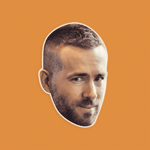 Bored Ryan Reynolds Mask - Perfect for Halloween, Costume Party Mask, Masquerades, Parties, Festivals, Concerts - Jumbo Size Waterproof Laminated Mask