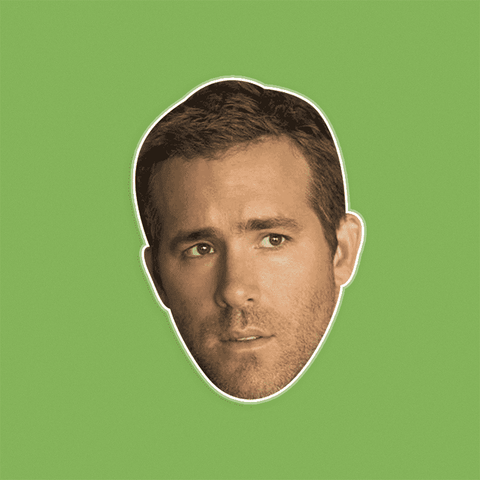 Confused Ryan Reynolds Mask - Perfect for Halloween, Costume Party Mask, Masquerades, Parties, Festivals, Concerts - Jumbo Size Waterproof Laminated Mask