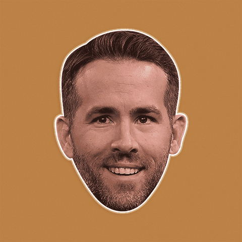 Excited Ryan Reynolds Mask - Perfect for Halloween, Costume Party Mask, Masquerades, Parties, Festivals, Concerts - Jumbo Size Waterproof Laminated Mask