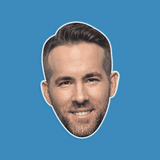 Happy Ryan Reynolds Mask - Perfect for Halloween, Costume Party Mask, Masquerades, Parties, Festivals, Concerts - Jumbo Size Waterproof Laminated Mask