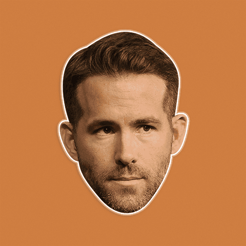 Sad Ryan Reynolds Mask - Perfect for Halloween, Costume Party Mask, Masquerades, Parties, Festivals, Concerts - Jumbo Size Waterproof Laminated Mask