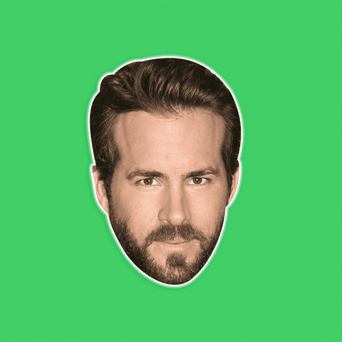 Serious Ryan Reynolds Mask - Perfect for Halloween, Costume Party Mask, Masquerades, Parties, Festivals, Concerts - Jumbo Size Waterproof Laminated Mask