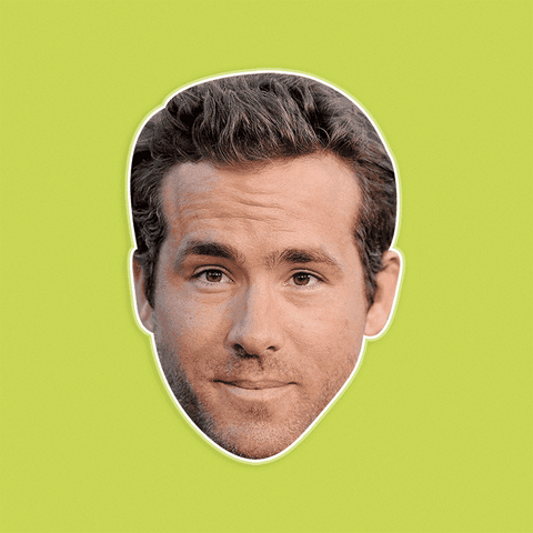 Surprised Ryan Reynolds Mask - Perfect for Halloween, Costume Party Mask, Masquerades, Parties, Festivals, Concerts - Jumbo Size Waterproof Laminated Mask