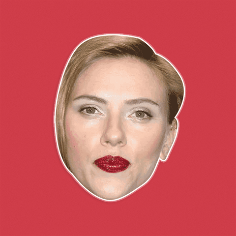 Angry Scarlett Johansson Mask - Perfect for Halloween, Costume Party Mask, Masquerades, Parties, Festivals, Concerts - Jumbo Size Waterproof Laminated Mask