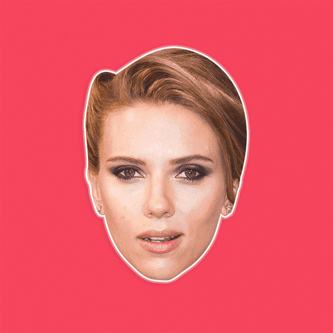 Confused Scarlett Johansson Mask - Perfect for Halloween, Costume Party Mask, Masquerades, Parties, Festivals, Concerts - Jumbo Size Waterproof Laminated Mask