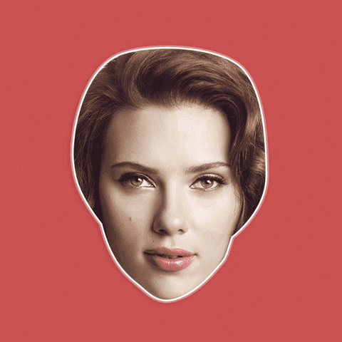 Cool Scarlett Johansson Mask - Perfect for Halloween, Costume Party Mask, Masquerades, Parties, Festivals, Concerts - Jumbo Size Waterproof Laminated Mask