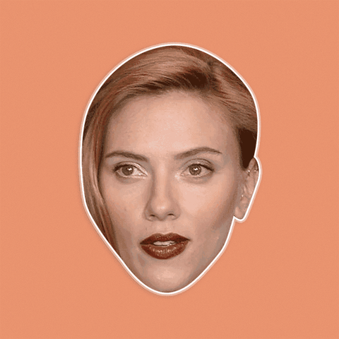Disgusted Scarlett Johansson Mask - Perfect for Halloween, Costume Party Mask, Masquerades, Parties, Festivals, Concerts - Jumbo Size Waterproof Laminated Mask