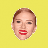 Happy Scarlett Johansson Mask - Perfect for Halloween, Costume Party Mask, Masquerades, Parties, Festivals, Concerts - Jumbo Size Waterproof Laminated Mask